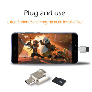 Image 2 - Portable Type C OTG Adapter Keychain Type C Micro SD Card Reader Converter OTG Adapter with TF Memory Card Reader