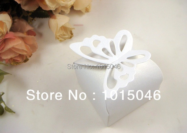Whole 50 X White Erfly Candy Bo Wedding Party Deco Supply Box Gift