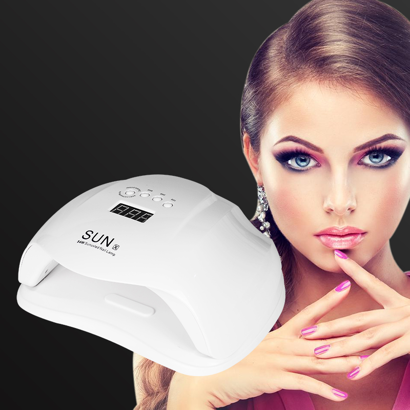 WENYI SUNX 54W UV Lamp LED Nail Lamp Nail Dryer For All Gels Polish With Infrared Sensing 30/60/90s Timer Smart touch button
