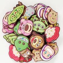 Children Boys Girls Presents 50pcs/lot Q Version Toy Story Shoe Charms/Decoration/Accessories Fit Bracelets/Croc Clogs Shoes