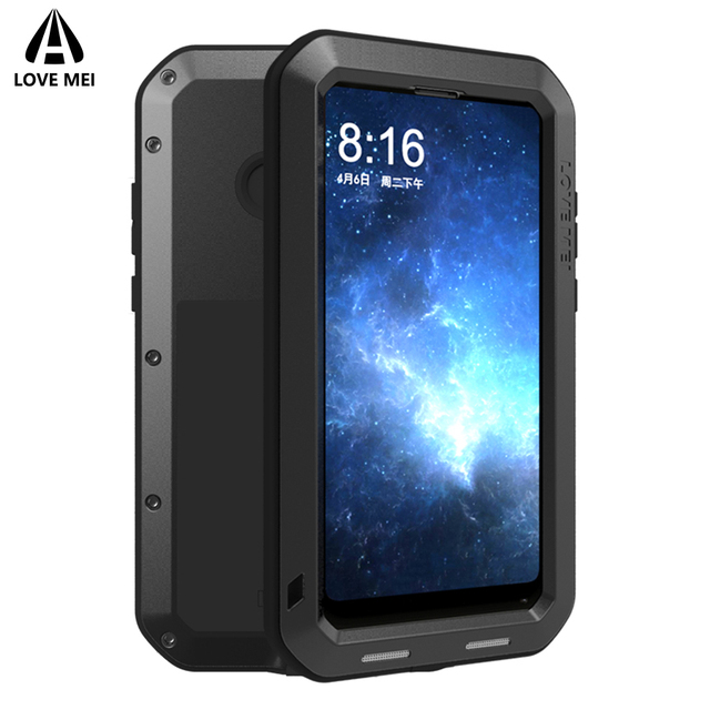 Love Mei Brand Case For Xiaomi Mi MIX 2 Metal Shockproof Phone Cover For Xiaomi MIX2 MIX 2 Full Body Anti Fall Rugged Armor Case
