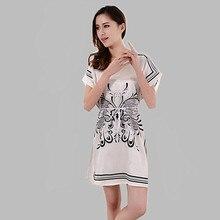Fashion 2016 sexy sleepwear ladies sleepshirts print nightgown female summer night dress nightshirts women pijamas A184