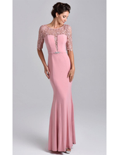 mermaid wedding party new exquisite dark navy vestido mae da noiva half sleeves 2016 lace beaded mother evening dresses