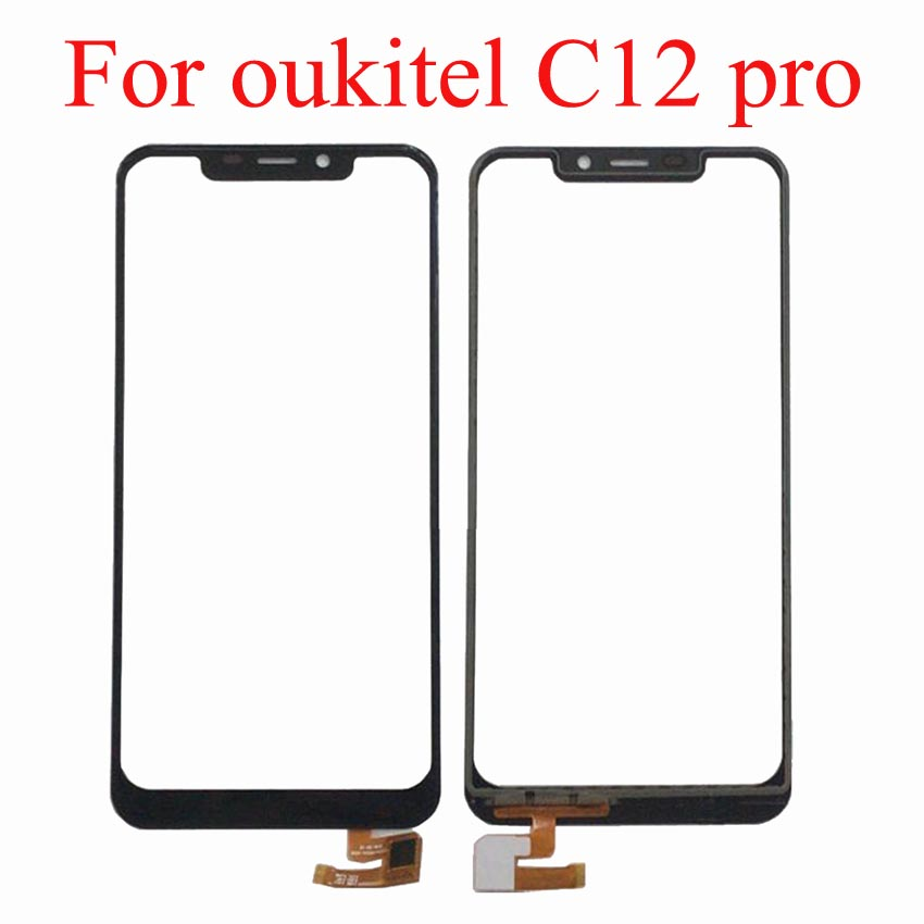 Mobile Phone Touchscreen For Oukitel C12 PRO Touch Screen Panel Digitizer Front Glass Sensor C 12 Accessories