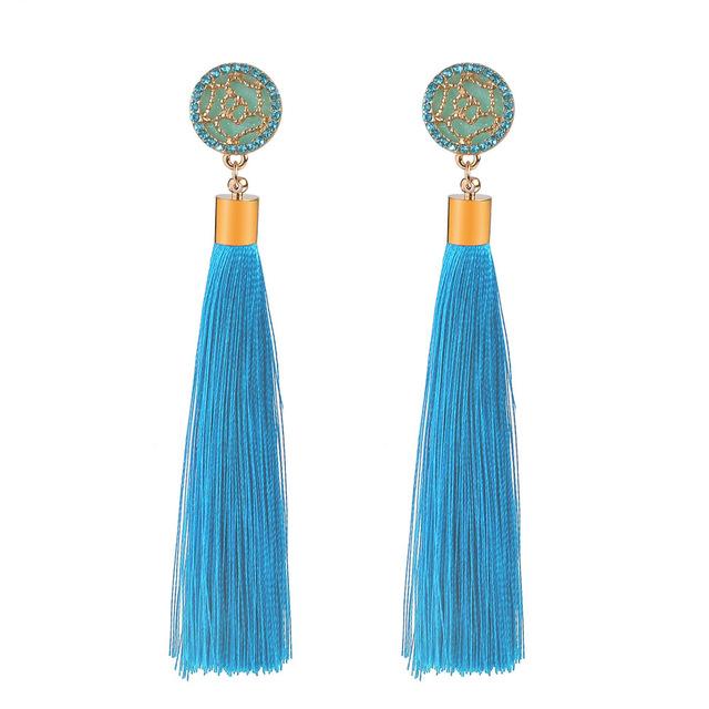 Long Drop Dangle Tassel Earrings For Women
