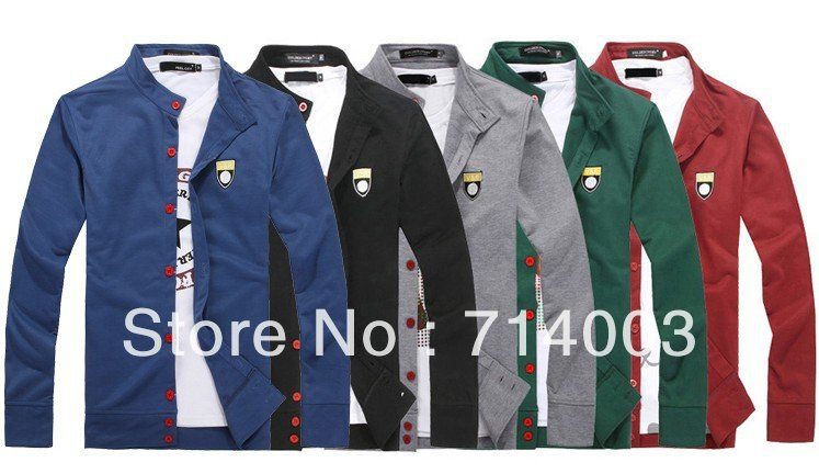 ks004 мода стиль мужская письма вышивка свободного покроя трикотаж кардиган 5 размеры 5 цветов бесплатная доставка