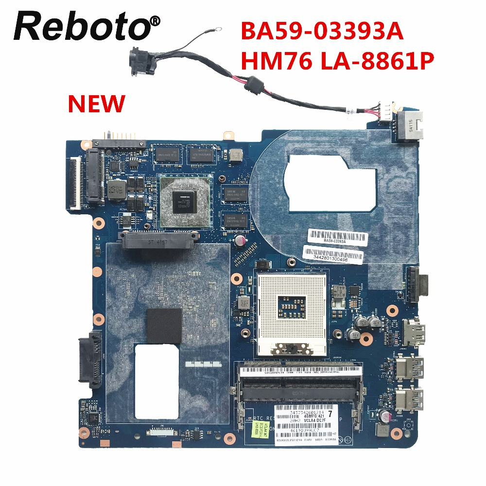 Reboto NEW For Samsung NP350V5C 350V5C Laptop Motherboard HD 7600M Series1GB BA59-03393A HM76 LA-8861P MB 100% Tested Fast Ship