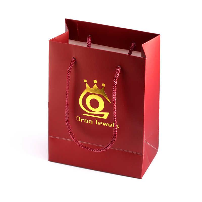 Alta qualidade simples saco de presente de papel kraft sacos de papel embalagem de jóias saco de presente de cor vermelha para presentes B1-S