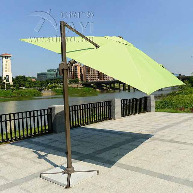3*3 meter aluminum garden umbrella parasol patio sunshade outdoor furniture covers 360 degrees rotation
