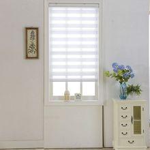 Фотография 100% polyester  white semi light shading customized zebra blinds
