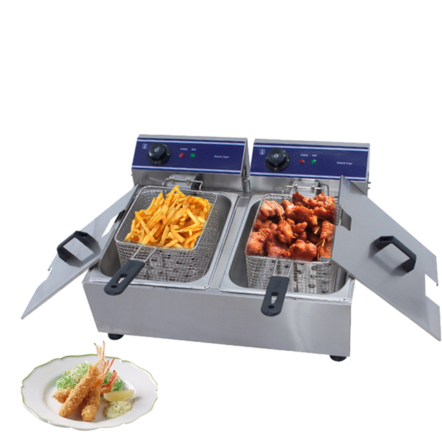 Small convenient commercial healthy delicious fish chicken potato eggplant french fries deep fryer machine simple easy to clean