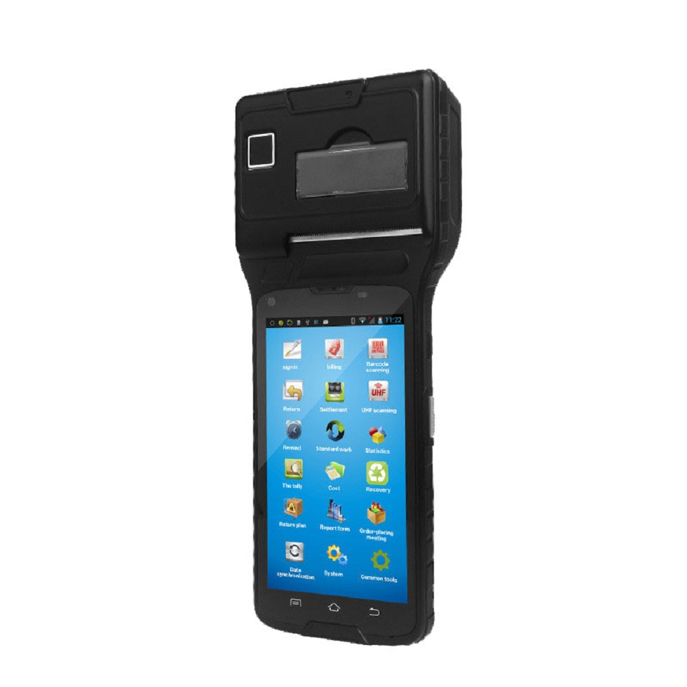 5 Inch Andrild Handheld POS Terminal PDAwith NFC Reader and RFID UHF Reader, Thermal Printer and 1D Barcode ReaderLS550S(1D+UHF)