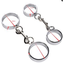 Smooth Alloy Metal handcuffs bondage sex toys Adult restraint steel wrist cuffs sex products Bound sex
