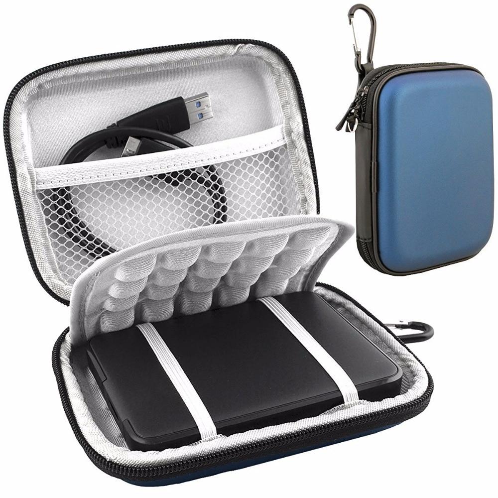 2.5 Saco de Transporte À Prova de Choque Disco Rígido Externo para WD MY Passport Ultra Slim Essencial WD Elements SE 500 GB 1 TB TB 2