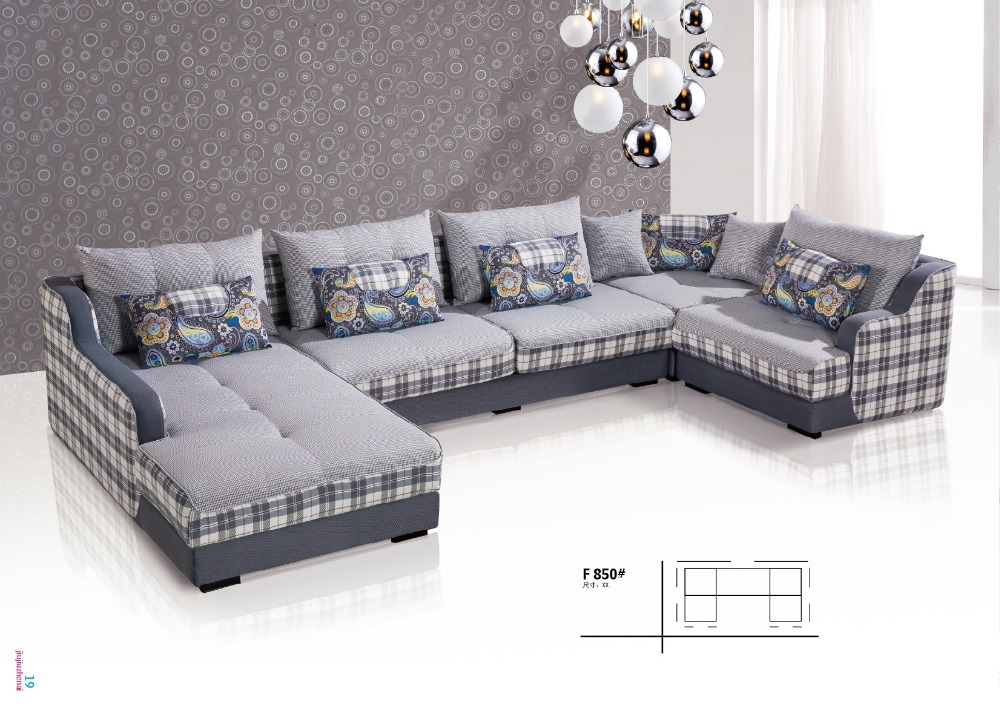 U shape living room fabric sofa in living room sofas from for U shaped living room