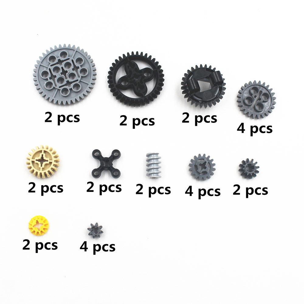 MOC Technic Parts 28pcs Technic Gears Assortment Pack Compatible With Lego For Kids Boys Toy NOC-TSMA28