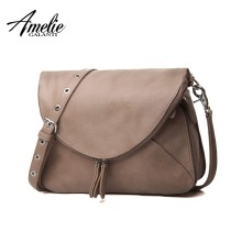 AMELIE GALANTI fashion women messenger bags pachwork envelope casual shoulder bag high quality PU soft zipper solid new