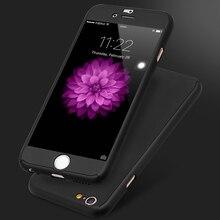 6s 7 Плюс Броня Протектор Экрана Стекло 360 Градусов Case Для iPhone 7 6 6s Для iphone 6 6s 7 Плюс Полная Защита Противоударный крышка