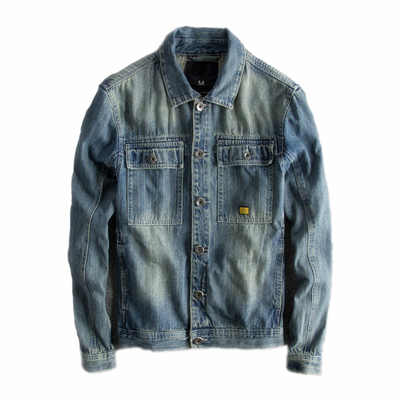 Japanese Harajuku Vintage Distressed Blue Jean Jacket for Men Urban Boys Streetwear Hip Hop Blue Denim Jacket Plus Size-in Jackets from Men's Clothing    1