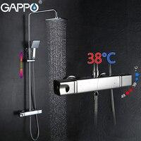 GAPPO смеситель для душа ванна смеситель осадков набор для душа Термостатический ванной смеситель настенное крепление для душа смеситель