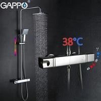 GAPPO shower faucet bath tap mixer rainfall shower set thermostatic bathroom mixer tap wall mount shower mixer tap