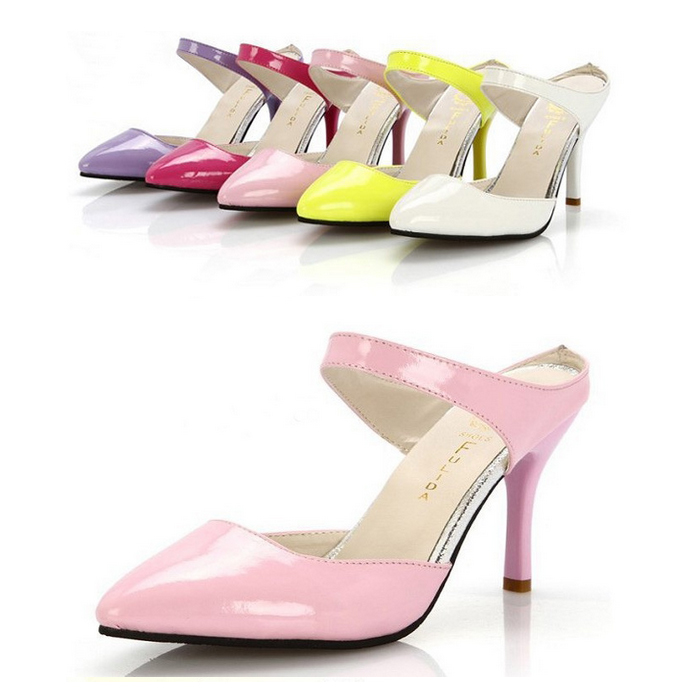71e031f8bdee 2015 Light Pink White Yellow Kitten Heel Sandals Nude Prom Shoes Candy  Party Heels Pumps