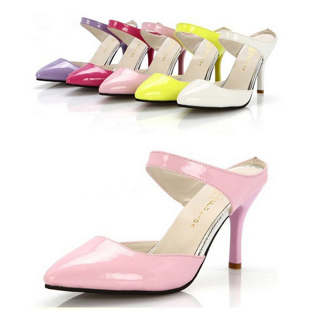 618ff9cc46c2 2015 Light Pink White Yellow Kitten Heel Sandals Nude Prom Shoes Candy  Party Heels Pumps