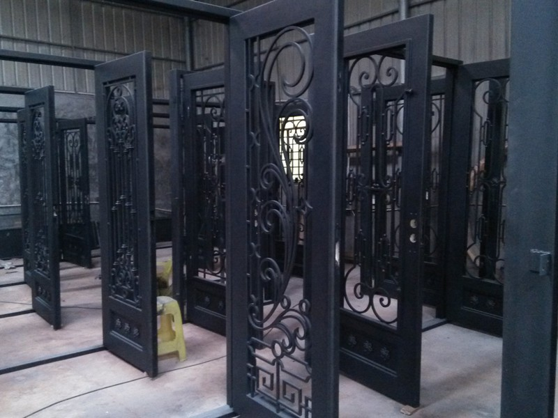 Wrought Iron For Steel Security Doors Sliding Glass Shower Door