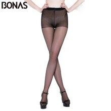 BONAS Plus Size 15D Seamless Tights Women Summer Hosiery Elasticity Spandex Pantyhose Female Fashion Stretch Polyester Slimming