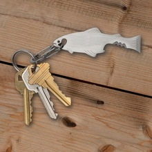 Outdoor fish-shaped fish skill multi-function EDC tool, bottle opener secant screwdriver key ring hang buckle
