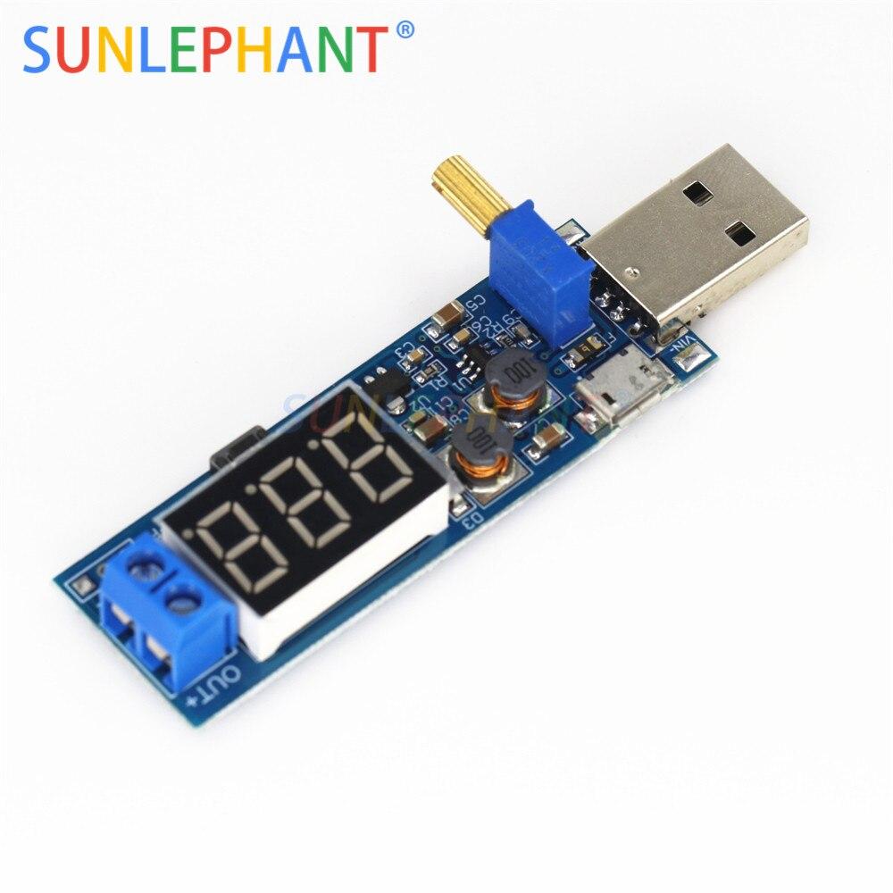 DC-DC USB Step Up Down Power Module buck boost Convertisseur de tension réglable 3 W
