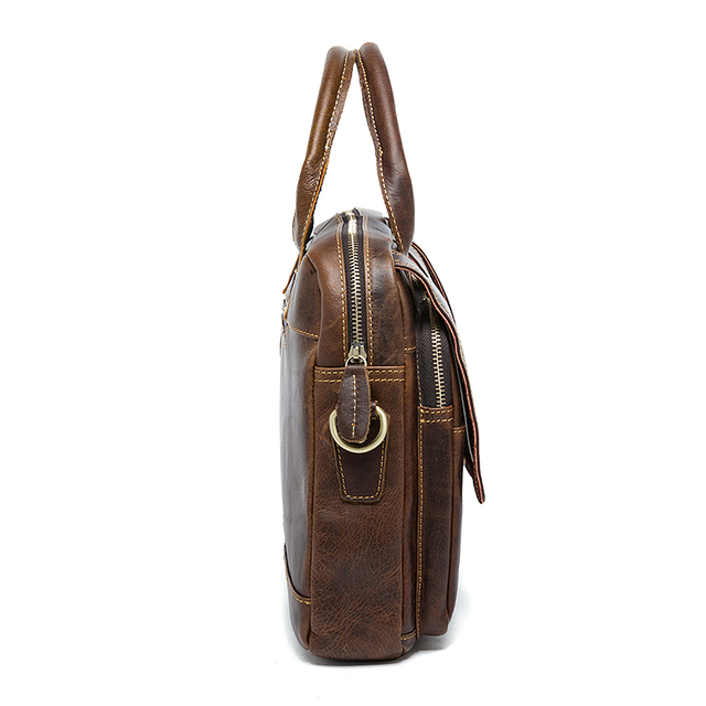 MVA men's bag/briefcase leather office/laptop bag for men's genuine leather bag 4