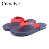 catwtber летняя мода открытый пляжная обувь для мужчин повседневное Ева обувь дышащие нескользящие шлепанцы туфли без каблуков т-ремень сандалии тапочки