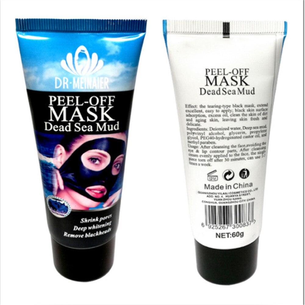 Blackhead Removal Nature Dead Sea Mud Black Mask Deep Clean Peel Off Mask Pores Shrinking Acne Treatment mee-eter verwijderaar 2