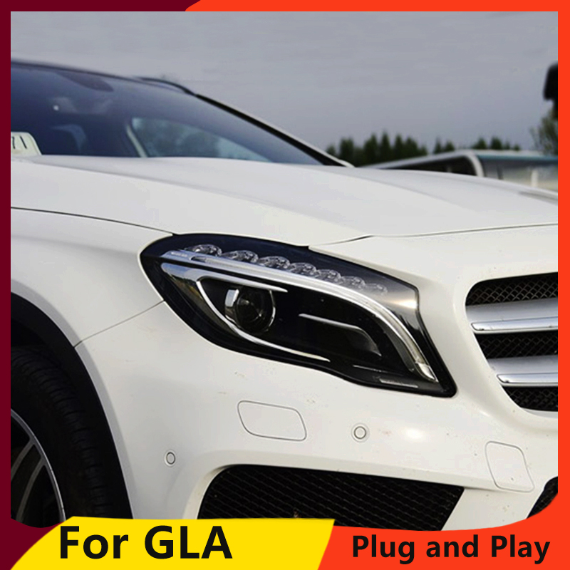 KOWELL Car Styling For Benz GLA 2015-2016 LED Headlight for GLA Head Lamp LED Daytime Running Light LED DRL Bi-Xenon D1S HID