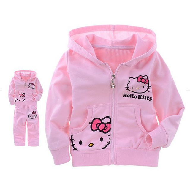 a3f9524826 Conjunto Moleton Rosa Hello Kitty C  Capuz Infantil Menina em ...