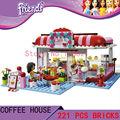 DIY Игрушки для детей девушка Городской Парк Кафе КИТАЙ БРАН T8086 Блоки самоконтрящаяся кирпичи, Совместимые с Лего друзья 3061