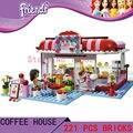 DIY Juguetes para los niños de la muchacha de La Ciudad Parque Cafetería CHINA SALVADO T8086 Bloques ladrillos autoblocantes Compatible con Lego friends 3061