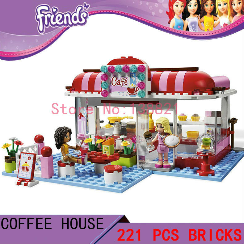 DIY Toys for children girl City Park Cafe CHINA BRAN T8086  Blocks self-locking bricks Compatible with Lego friends 3061