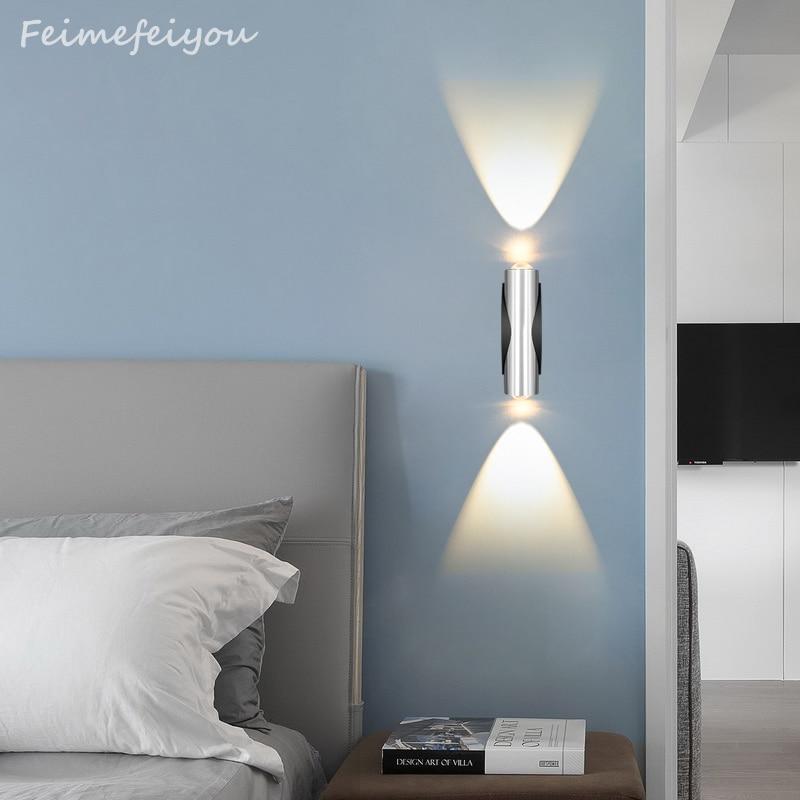 2 W Wand Lampe High Power Led Wand Lampe Licht Up Und Unten Seite Aluminium Ac85-220v