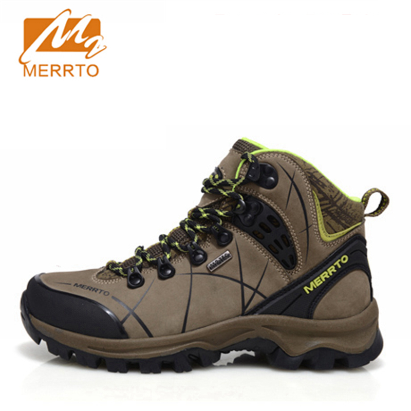 2017 Merrto Plus Velvet Womens Hiking Boots Waterproof Outdoor Sports Shoes Full-grain leather For Women Free Shipping 18336