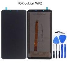 Originale Per Oukitel WP2 display LCD Touch screen digitizer Assembly Per Oukitel WP2 WP 2 Pannello a Sfioramento di ricambio Parti Del Telefono