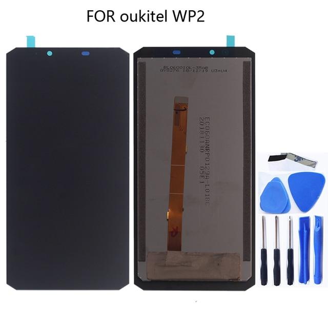 オリジナルoukitel WP2 lcdディスプレイタッチスクリーンデジタイザアセンブリのためのoukitel WP2 wp 2 交換タッチパネル電話部品