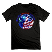 Fashion T Shirts Slim Fit O NeckMen S American Flag Holiday Supplies Since July 4 1776