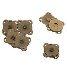 10Pcs Magnetic Clasps Vintage Bronze Tone Plum Blossom Shape DIY Purse Handbag Closure Findings 11mm