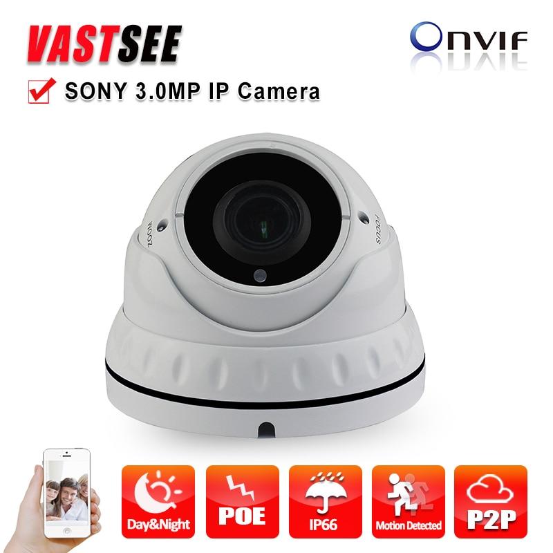 IP Camera POE 3.0MP Full HD 1080P Onvif 2.4 Vandalproof P2P  Varifocal indoor Security CCTV Cameras 2.8-12mm zoom Night Vision