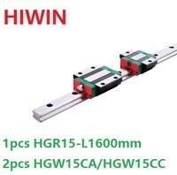 1 шт. 100% Оригинал Hiwin Линейные направляющей HGR15 L 1600 мм + 2 шт. HGW15CA HGW15CC Линейный Фланец каретка для ЧПУ