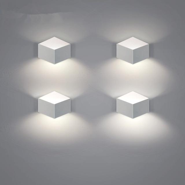 US $42.13 15% di SCONTO|Nordic Design Bianco applique da Parete Decorazioni  Per Parete Soggiorno Moderno Lampade Da Parete A Led Specchio del Bagno ...