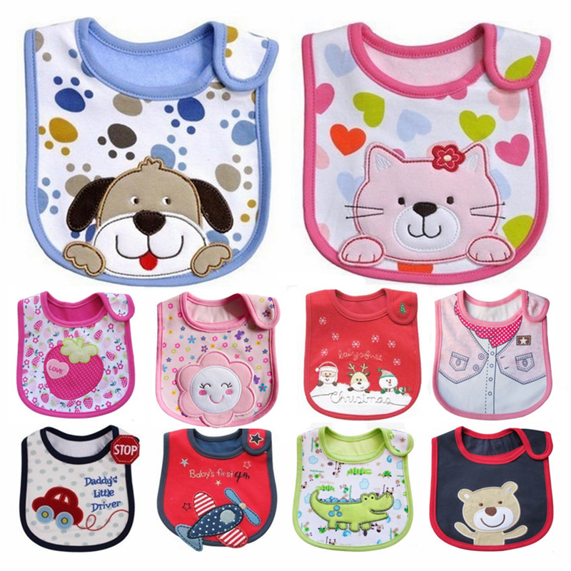 Cute Baby Bibs Waterproof Newborn Boys Girls CottonBibs Saliva Embroidered Scarves Babadores Jardineira Bandana Baby Clothing