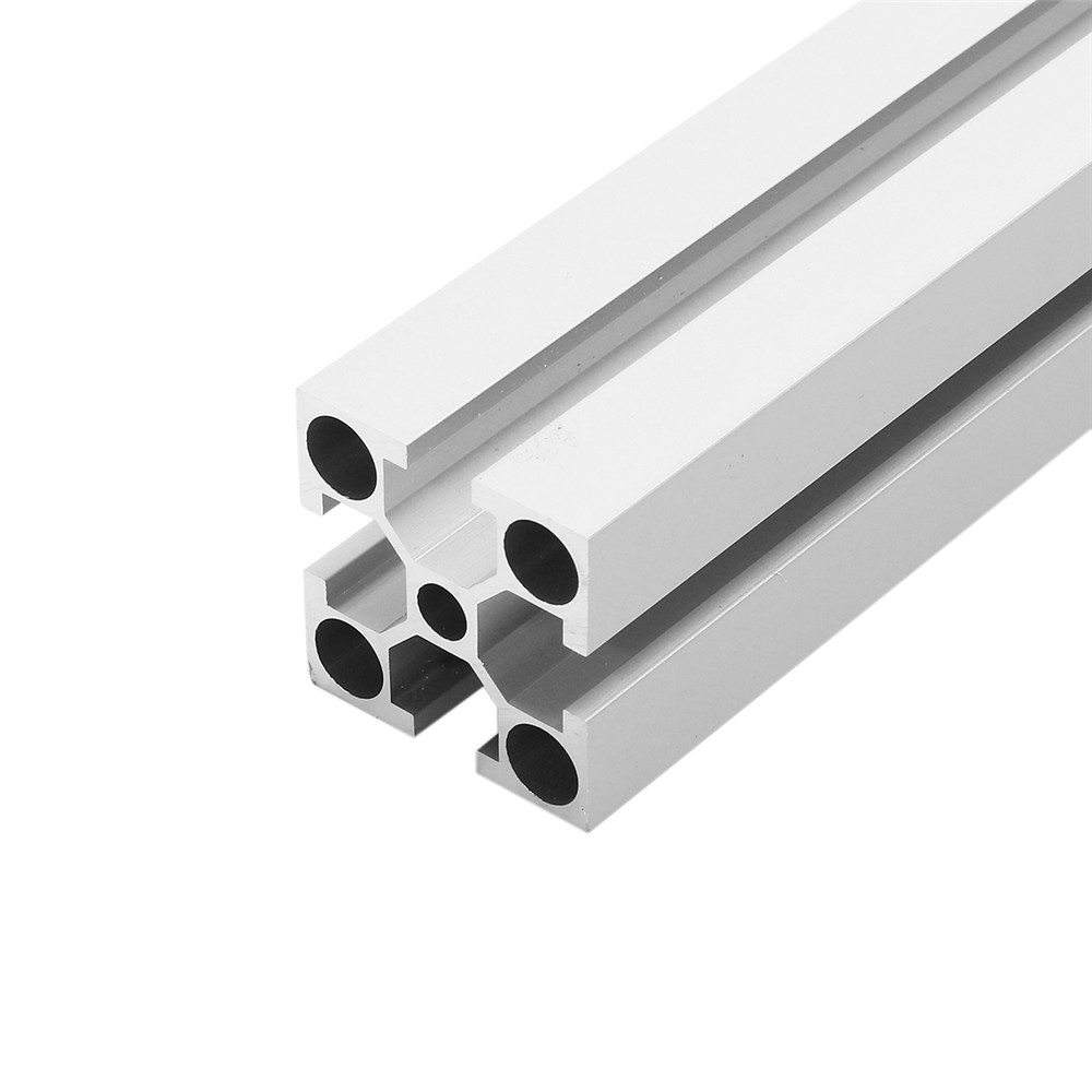 1000mm Length Silver 3030 Aluminum Profile Extrusion Frame For DIY 3D Printer CNC Plasma Laser1000mm Length Silver 3030 Aluminum Profile Extrusion Frame For DIY 3D Printer CNC Plasma Laser